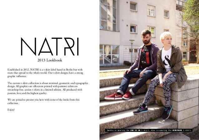 Established in 2012, NATRI is a t-shirt label based in Berlin but withroots that spread to the whole world. Our t-shirt de...