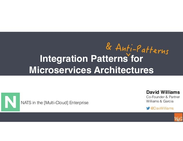 Integration Patterns for Microservices Architectures NATS in the [Multi-Cloud] Enterprise David Williams Co-Founder & Part...
