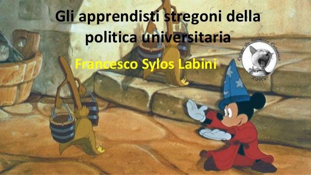 Gli apprendisti stregoni della politica universitaria Francesco Sylos Labini