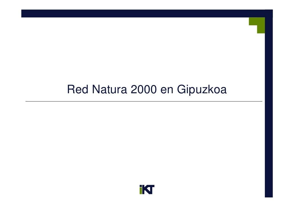 Red Natura 2000 en Gipuzkoa