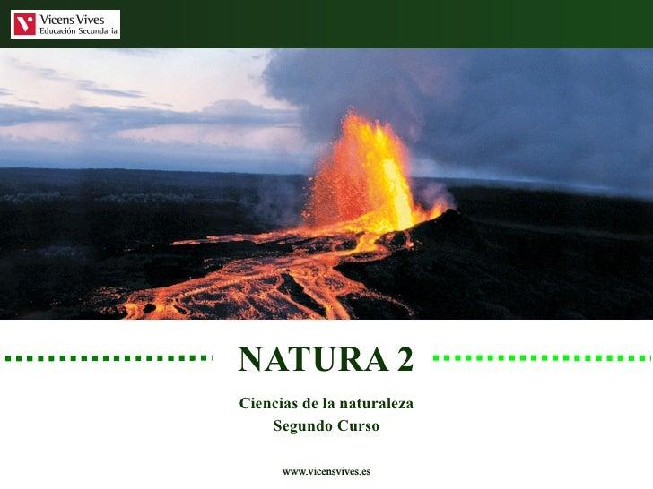 NATURA 2 Ciencias de la naturaleza Segundo Curso