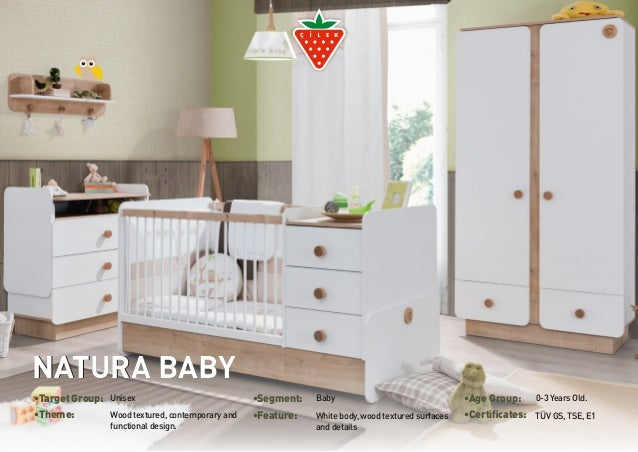 •Target Group: Unisex •Segment: Baby •Age Group: 0-3 Years Old.  •Theme: White body, wood textured surfaces  Wood textured...