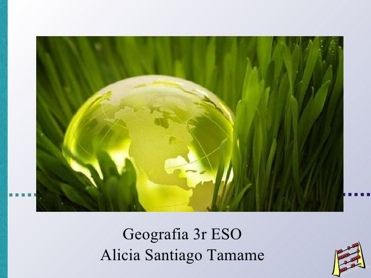 Geografia 3r ESO Alicia Santiago Tamame
