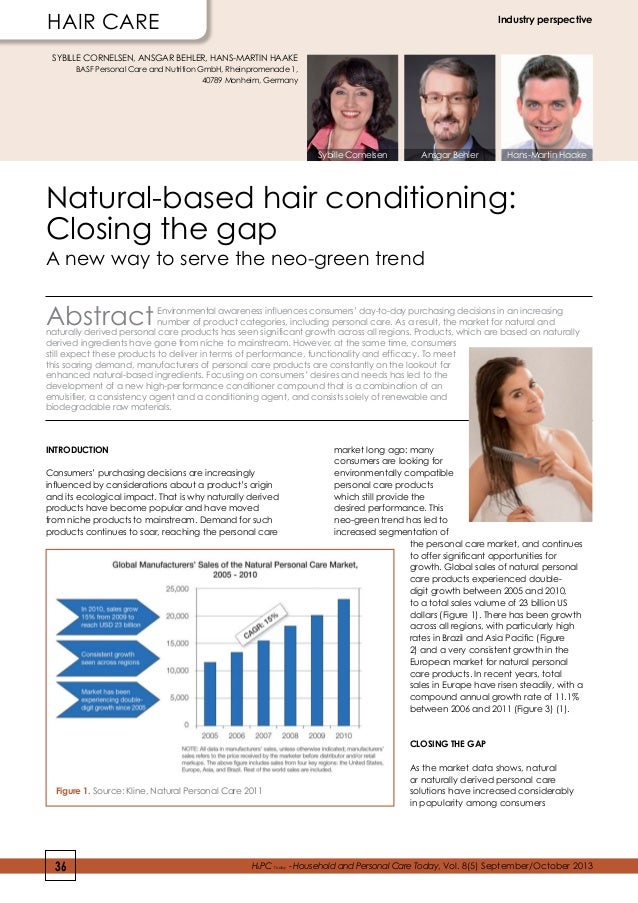 hair care  Industry perspective  SYBILLE CORNELSEN, ANSGAR BEHLER, HANS-MARTIN HAAKE BASF Personal Care and Nutrition GmbH...