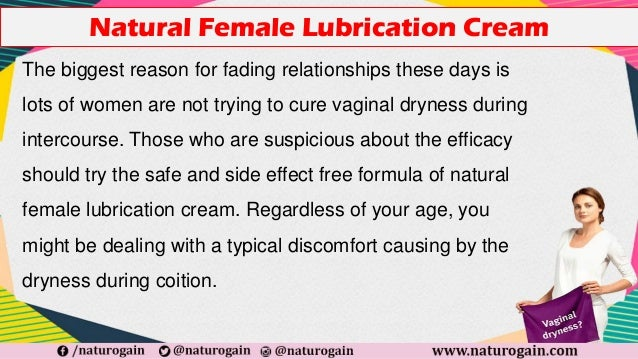 Natural female lubrication