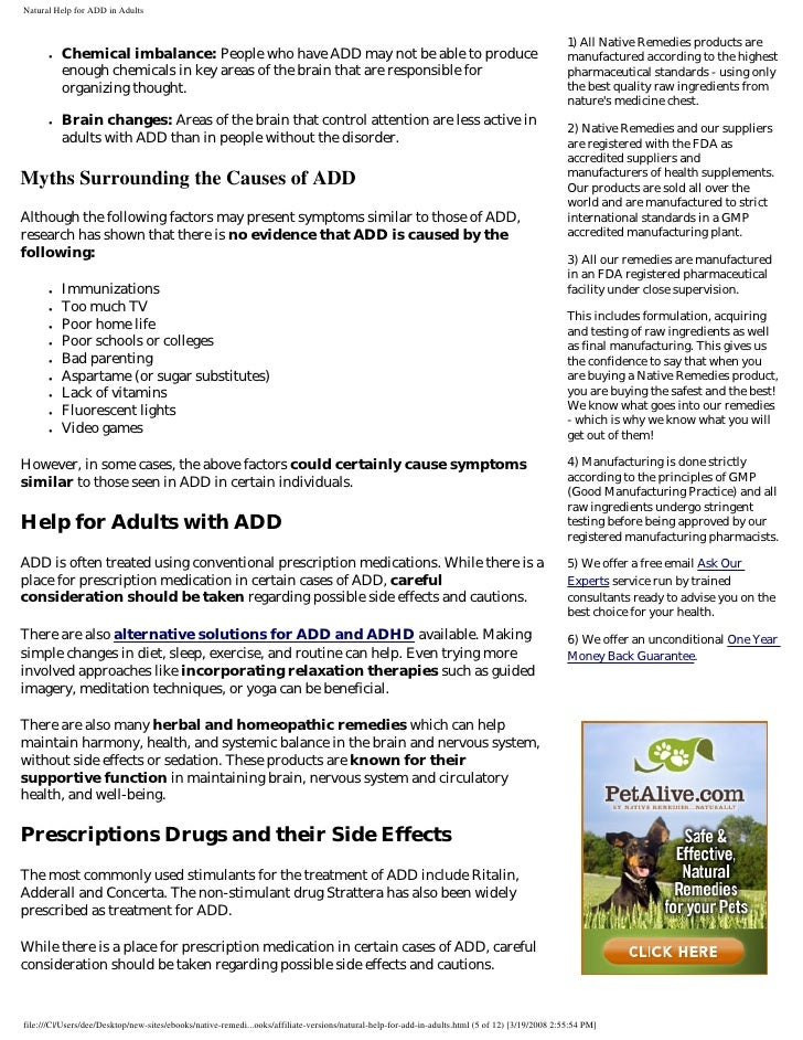 Natural Remedies For Attention Deficit Disorder In Children