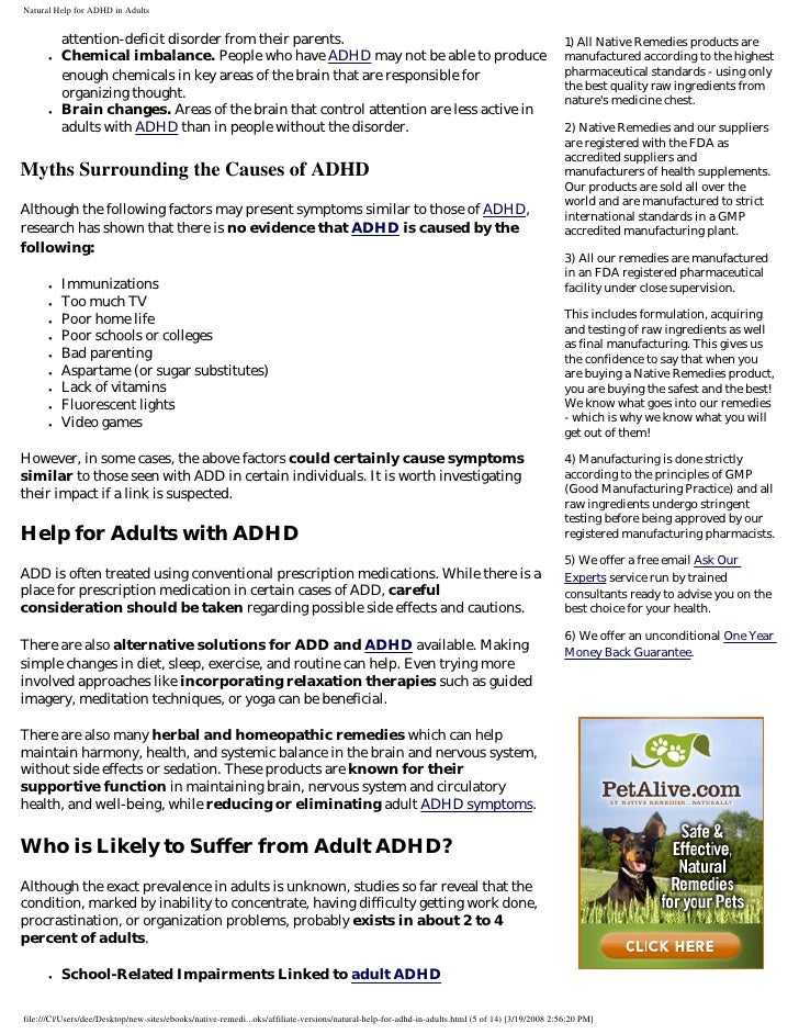 Natural help for adhd in adults signed rebranded 5 attention deficit disorder fandeluxe Images