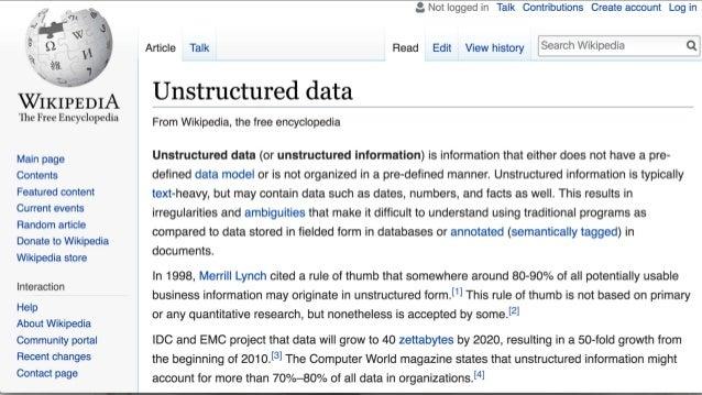 Unstructured Data Trey Grainger works at Lucidworks. He is speaking at Haystack 2019. #HaystackConf (Haystack) is being he...