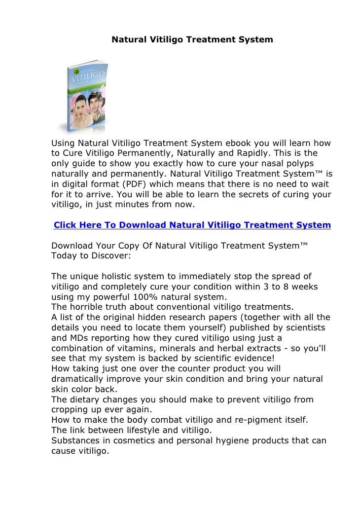 Natural Vitiligo Treatment System Review