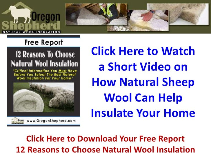 Click Here to Watch a Short Video on How Natural Sheep Wool Can Help Insulate Your Home<br />Click Here to Download Your F...
