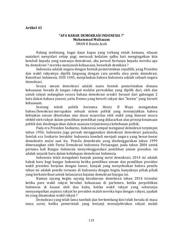 Muhammad Multazam Sman 8 Banda Aceh Pemilihan Duta Demokrasi Sayem