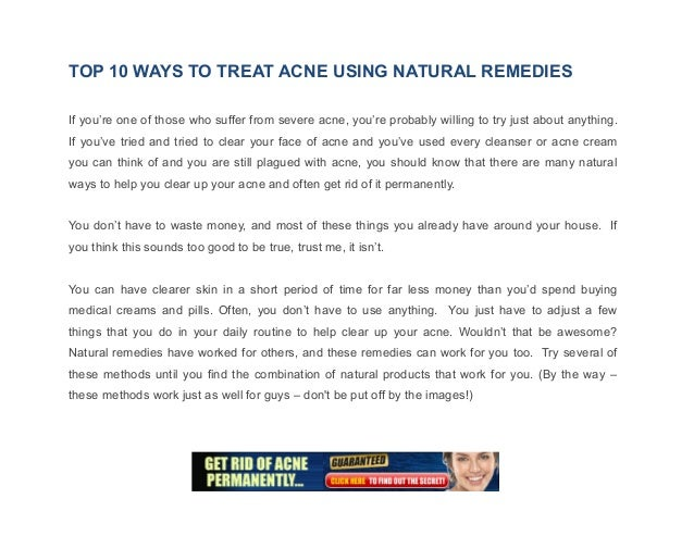 natural things to help acne