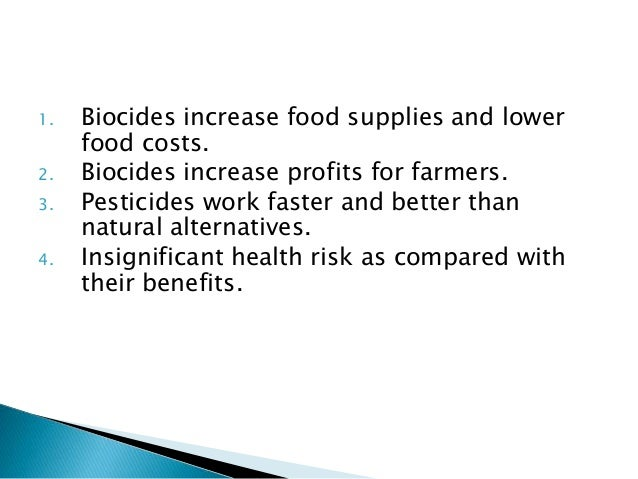 Natural And Chemical Biocides