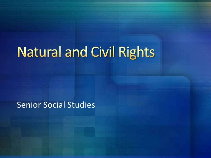Senior Social Studies