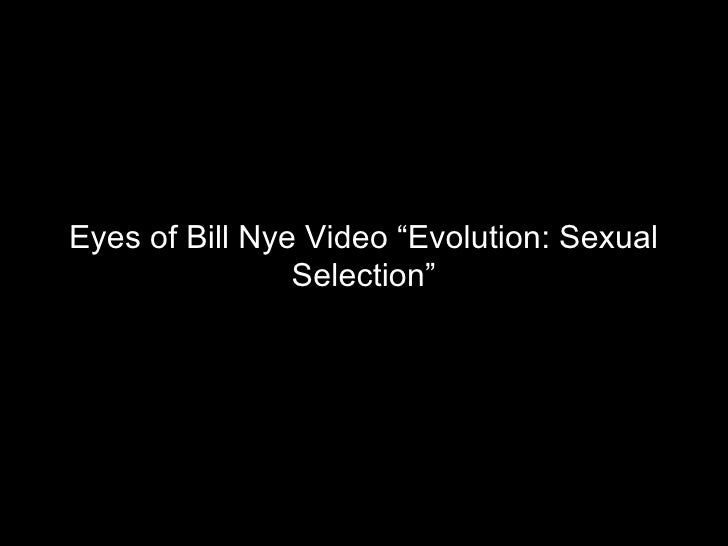 Sexual selection evolution video
