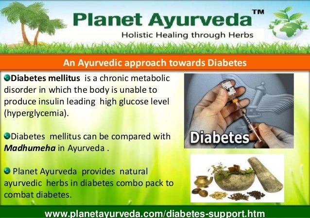An Ayurvedic approach towards Diabetes Diabetes mellitus is a chronic metabolic disorder in which the body is unable to pr...