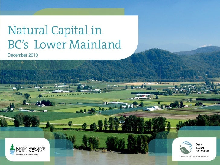Natural capital in British Columbia's lower mainland