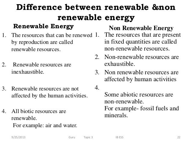 Difference Between Exhaustible And Inexhaustible Natural Resources