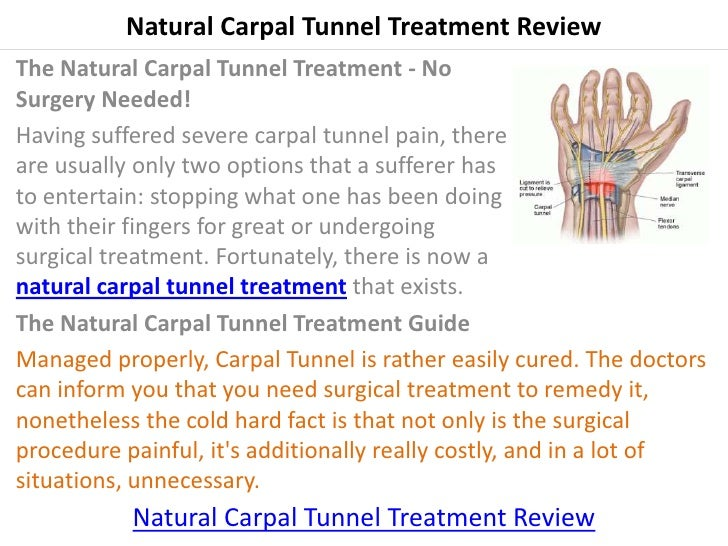 Carpal Tunnel Treatment Natural Remedy
