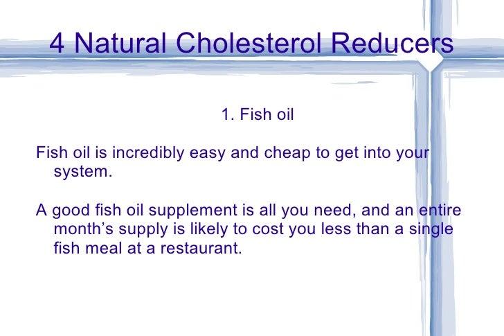 Natural Cholesterol Reducers Fish Oil