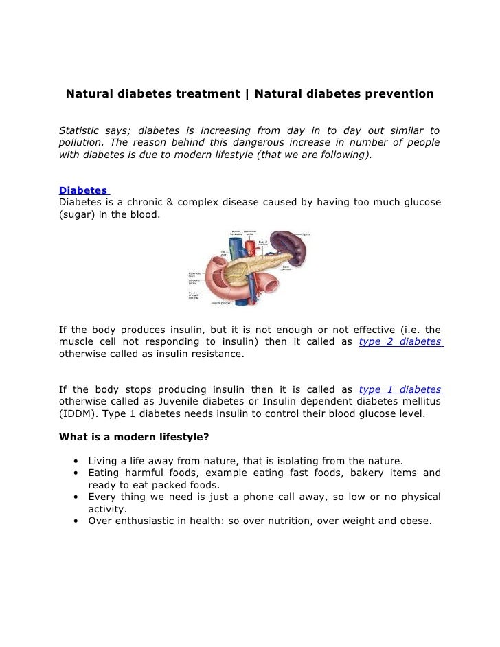 Natural diabetes treatment | Natural diabetes prevention   Statistic says; diabetes is increasing from day in to day out s...