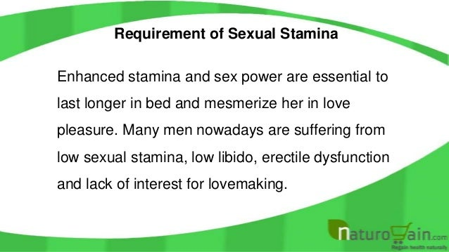 How To Gain More Stamina In Bed