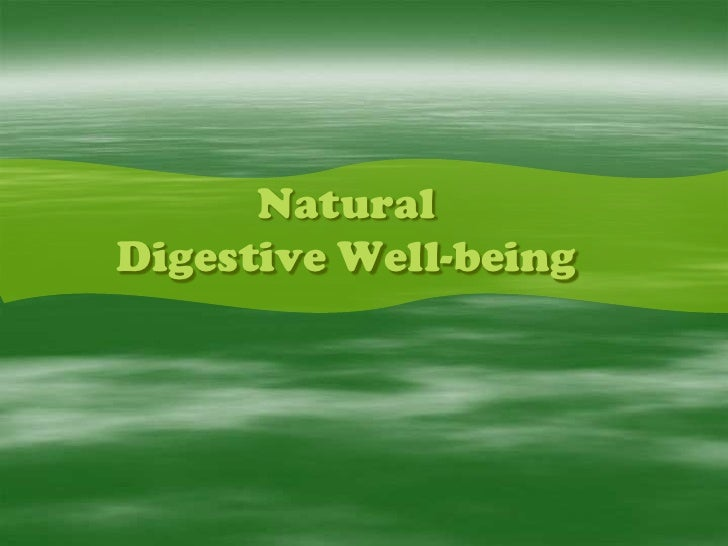 NaturalDigestive Well-being<br />