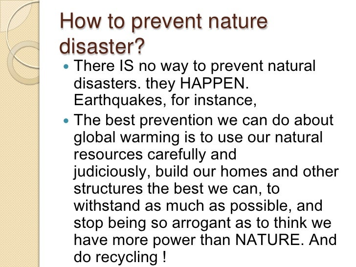 Natural Disasters Happen Between