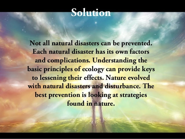 Prevention Of Natural Disasters Ppt