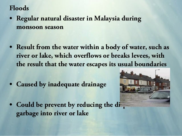 natural disasters and prevention Prepare for or recover after risks to health and the environment due to natural disasters.