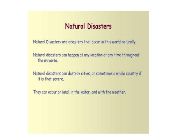 Natural disaster essay