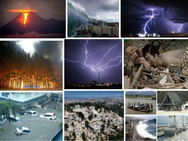Recent Reported Natural Disasters