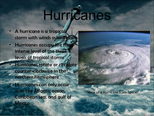 NATURAL DISASTERS Natural Disasters Hurricane