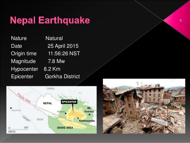 Nepal Earthquake - April 2015