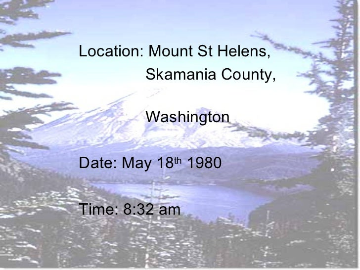 case study mount st helens Study flashcards on mount st helens case study at cramcom quickly memorize the terms, phrases and much more cramcom makes it easy to get the grade you want.