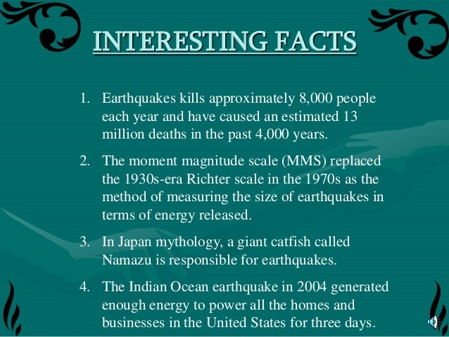 earthquake research Free earthquakes papers, essays, and research papers these results are sorted by most relevant first (ranked search) you may also sort these by color rating or essay length.