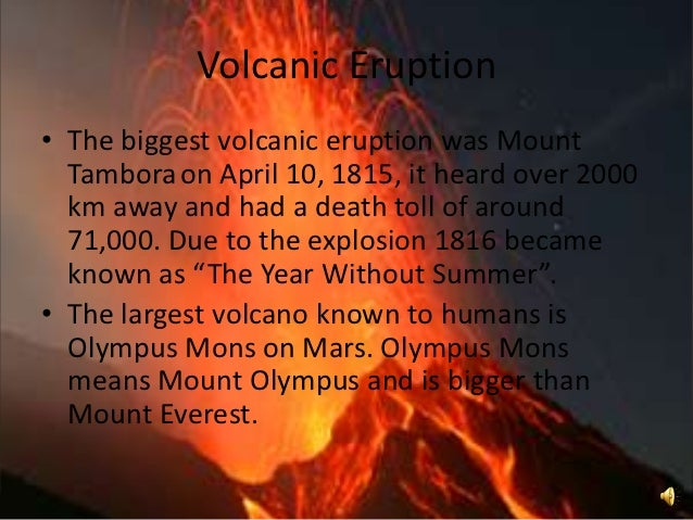 Volcano Worst Natural Disasters