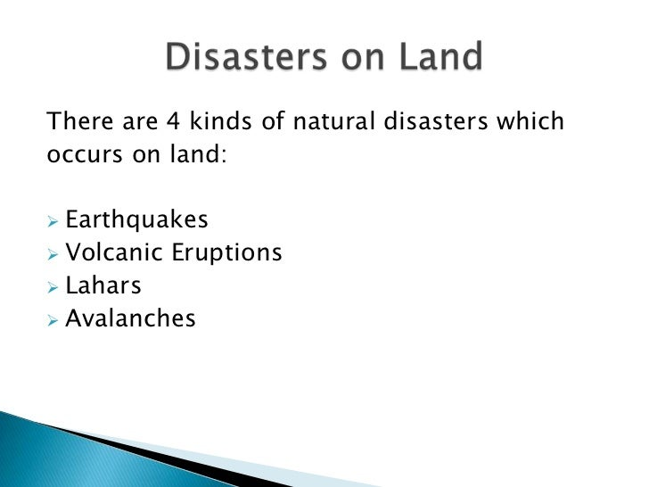 Natural Disasters Caused By Human Actions