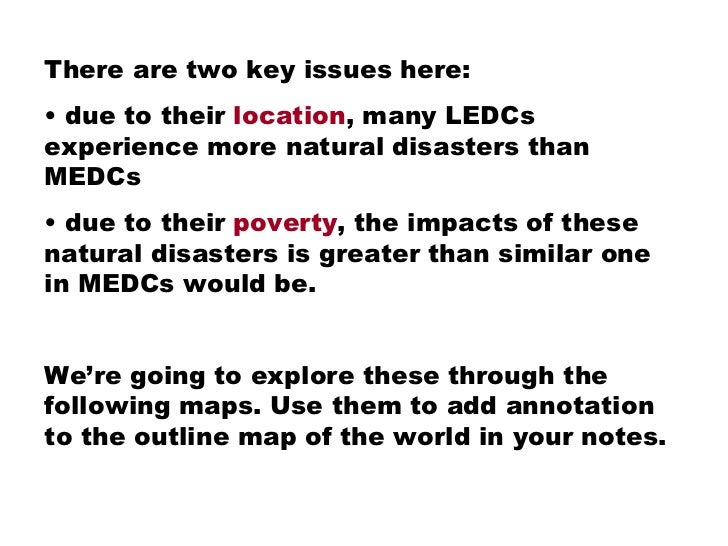 Natural disasters in Developing Countries