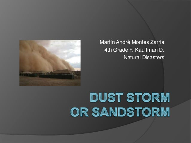 Martín André Montes Zarria 4th Grade F. Kauffman D. Natural Disasters