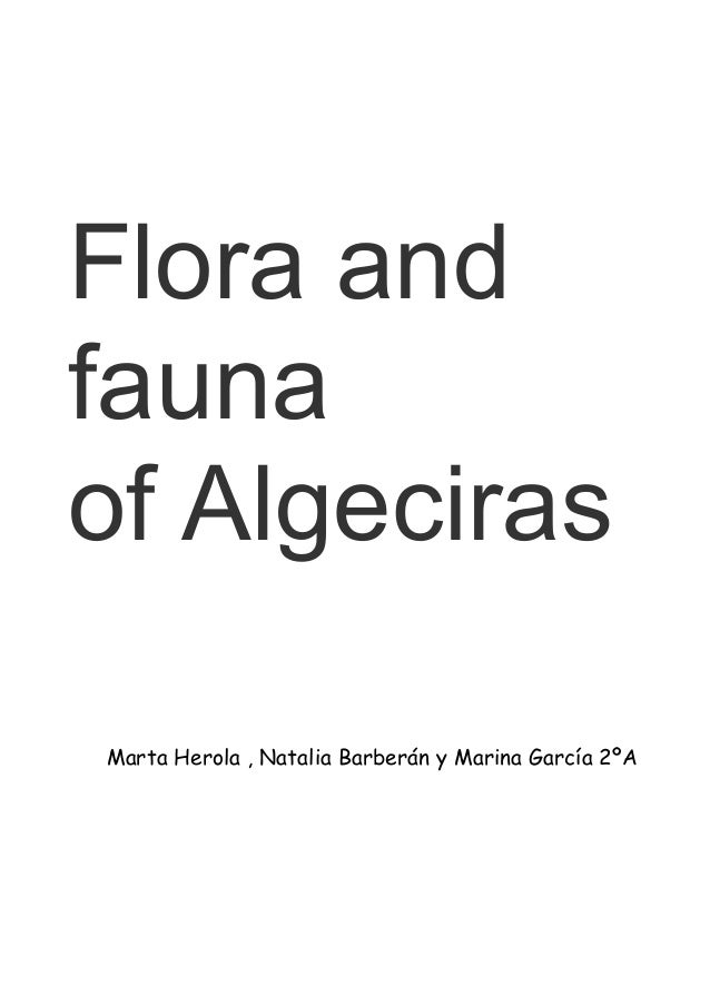 Flora andfaunaof AlgecirasMarta Herola , Natalia Barberán y Marina García 2ºA