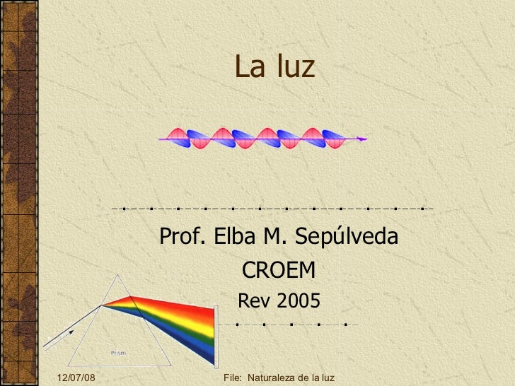 La luz Prof. Elba M. Sepúlveda CROEM Rev 2005