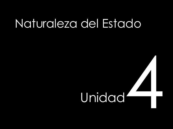 Naturaleza del Estado Unidad   4