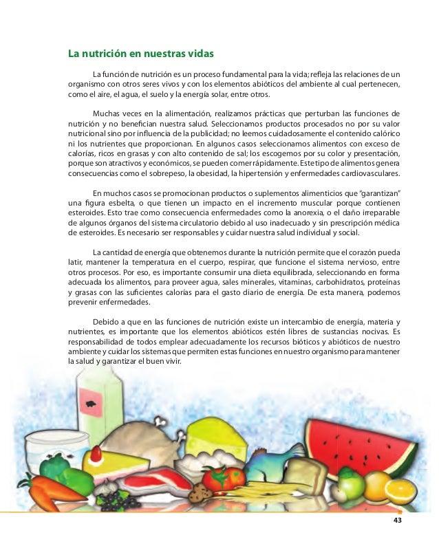 44 1. Las funciones de nutrición en los animales se producen gracias a las relaciones de diversos sistemas • Observa la in...