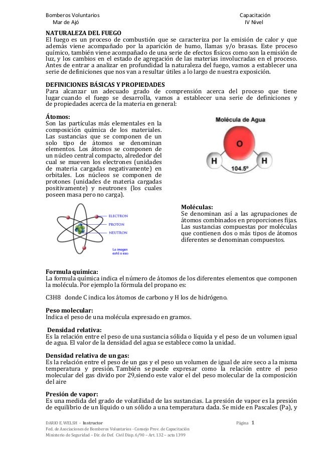 Bomberos Voluntarios CapacitaciónMar de Ajó IV NivelDARIO E. WELSH - Instructor Página 1Fed. de Asociaciones de Bomberos V...
