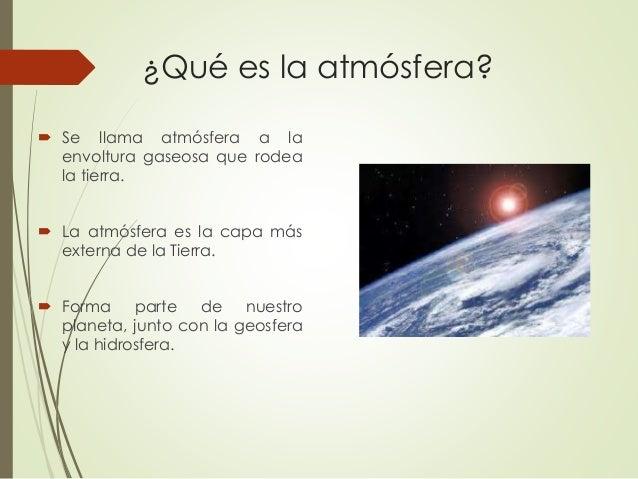Naturaleza y composición de la atmósfera - Alberto