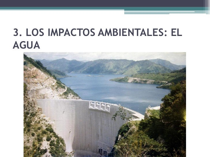 3.2. La sobreexplotación de losrecursos hídricos• El desvío del curso de  los ríos mediante la  canalización causa un  fue...