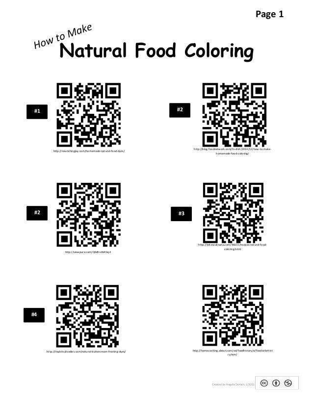 Natural food coloring