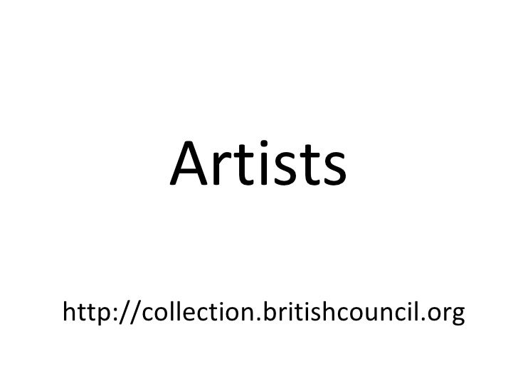 Artistshttp://collection.britishcouncil.org