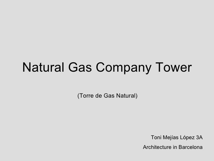 Natural Gas Company Tower (Torre de Gas Natural) Toni Mejías López 3A Architecture in Barcelona